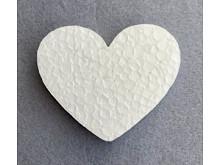 Заготовка из пенопласта-сердце 9см