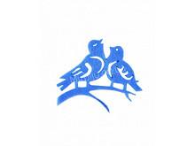 Аппликация из фетра < Пара птиц >