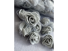 Розы из фоамирана: 3,5-4см